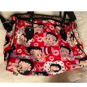 Betty Boop Vintage Canvas Duffel Travel🌹
